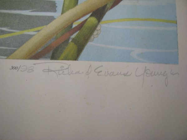 1237: RICHARD EVANS YOUNGER LTD LITHOGRAPH SIGNED PRINT - 5