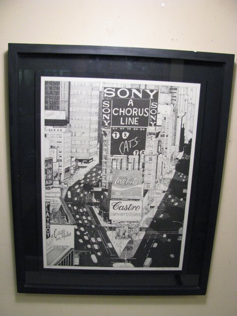1266: LTD ED LITHOGRAPH TIMES SQUARE STELLA ROOSEVELT