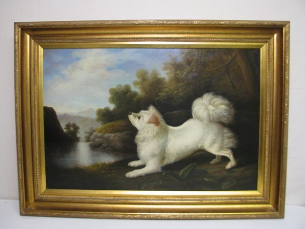 "1295: PAINTING: JOHN GRAY ""DOG IN A LANDSCAPE"""