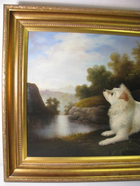 "1295: PAINTING: JOHN GRAY ""DOG IN A LANDSCAPE"" - 5"