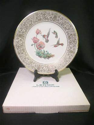 LENOX BOEHM BIRD PLATE RUFOUS HUMMINGBIRD 1974