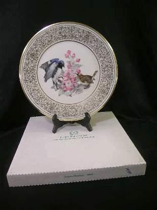 LENOX BOEHM BIRD PLATE BLUE WARBLER 1980