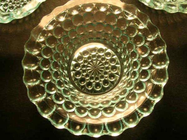 403: ANTIQUE THOUSAND EYE PATTERN GLASS SMALL BOWLS 6 P - 4