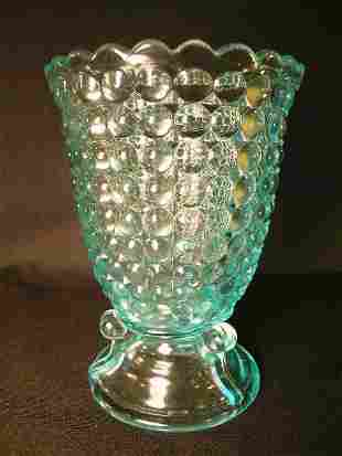 ANTIQUE THOUSAND EYE PATTERN GLASS SPOONER