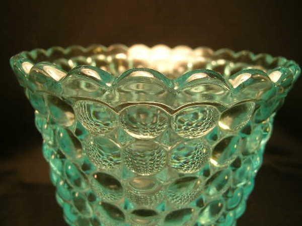 404: ANTIQUE THOUSAND EYE PATTERN GLASS SPOONER - 3