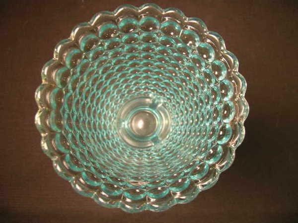 404: ANTIQUE THOUSAND EYE PATTERN GLASS SPOONER - 4