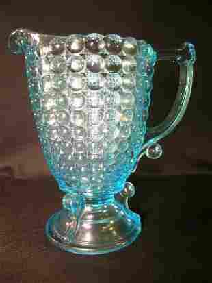 ANTIQUE THOUSAND EYE PATTERN GLASS CREAMER LG