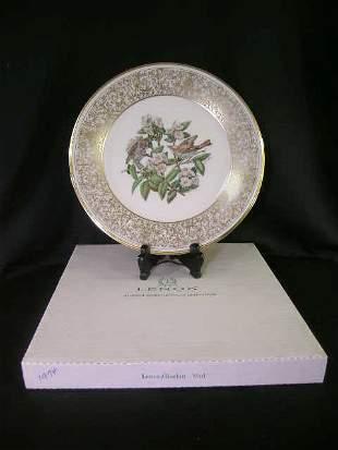 LENOX BOEHM BIRD PLATE WOOD THRUSH 1970