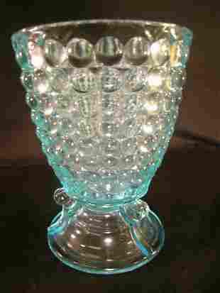 ANTIQUE THOUSAND EYE PATTERN GLASS SPOONER LG