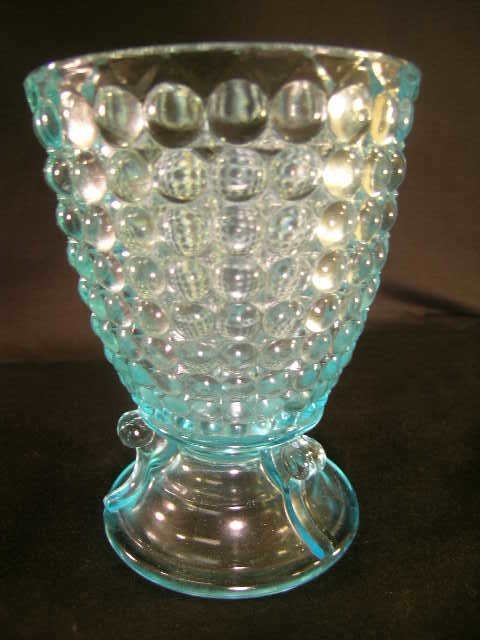 421: ANTIQUE THOUSAND EYE PATTERN GLASS SPOONER LG