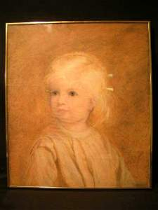 692: FRAMED OIL ON CANVAS PAINTING YOUNG GIRL A F GRACE