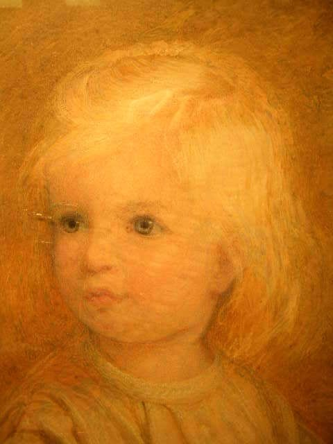 692: FRAMED OIL ON CANVAS PAINTING YOUNG GIRL A F GRACE - 2