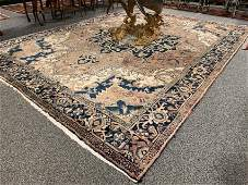LARGE PERSIAN HERIZ HAND KNOTTED WOOL RUG 8' x 11'