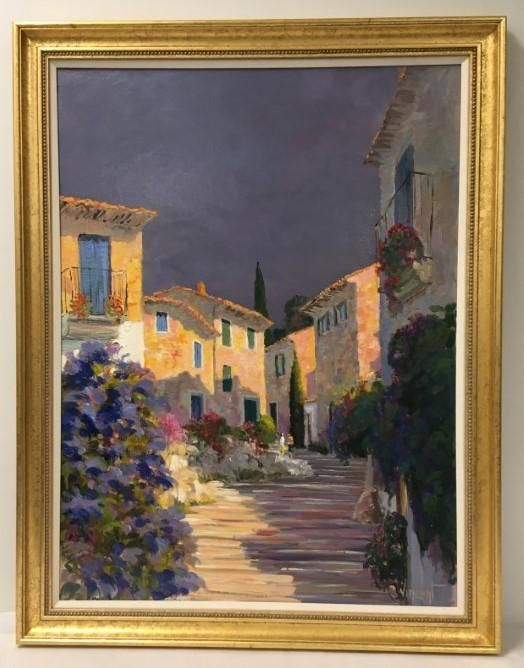 VINCENT OIL ON CANVAS PAINTING FORNALUTZ MOLLORCA