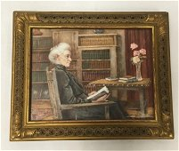 ANTIQUE EDWARDIAN MINIATURE PAINTING OF A WOMAN