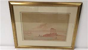 HENRY STANTON LYNTON WATERCOLOR PAINTING ON BOARD