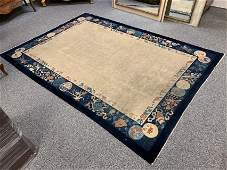 ANTIQUE CHINESE ART DECO WOOL RUG 6' X 9'
