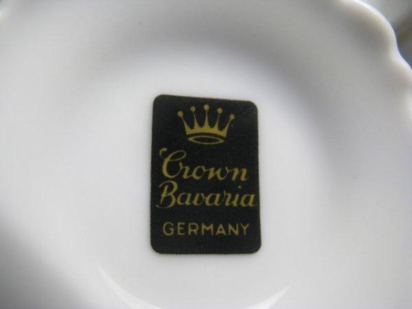 1: CROWN BAVARIA GERMAN PORCELAIN DINNERWARE 73 PCS - 9