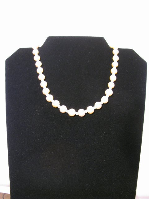 """11: NATURAL CULTURED PINK PEARL NECKLACE 16 """" LONG"""