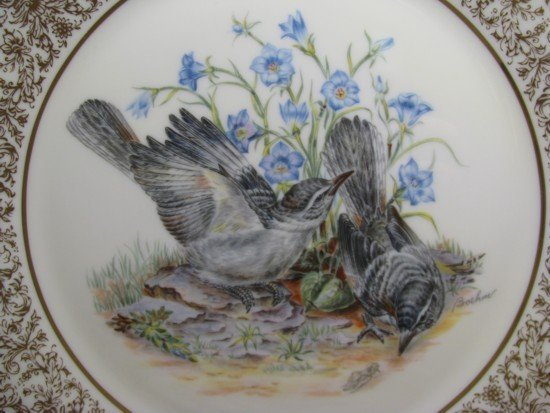 13: 12 LENOX PORCELAIN BOEHM BIRD PLATES w BOXES