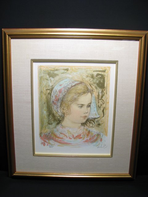 19: EDNA HIBEL COLOR LITHOGRAPH PRINT SIGNED & NUMBERED