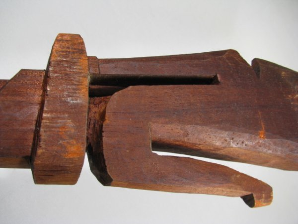 47: TWO CARVED WOOD CANES WALKING STICKS - 4