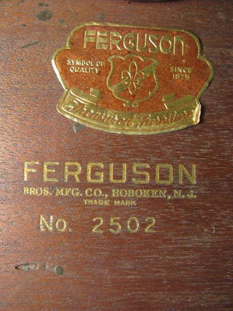 101: FERGUSON MAHOGANY TWO TIER PIE CRUST TABLE - 8