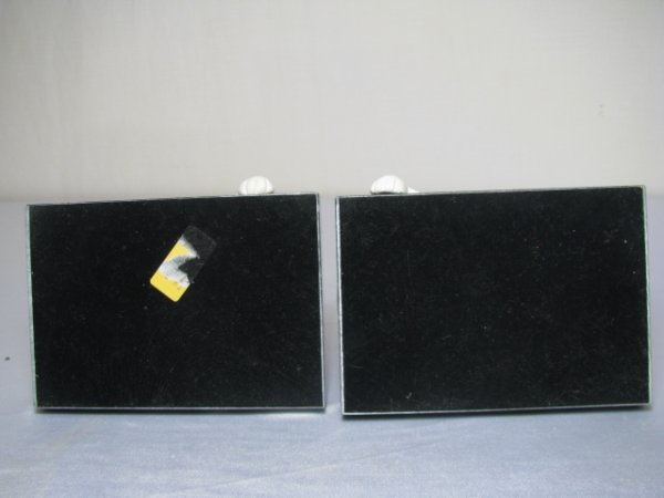 252: PAIR CERAMIC CAT BOOKENDS w BLACK MARBLE BASE - 7