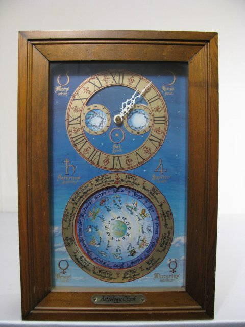 19: MID CENTURY ASTROLOGICAL CLOCK FAIRFIELD CLOCK