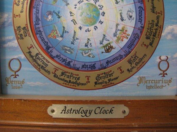 19: MID CENTURY ASTROLOGICAL CLOCK FAIRFIELD CLOCK - 2