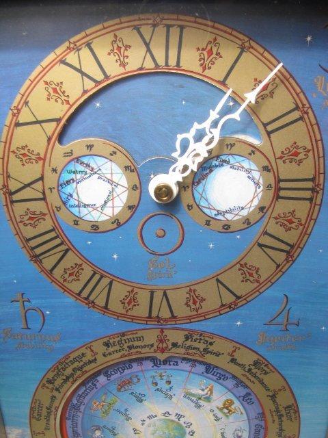 19: MID CENTURY ASTROLOGICAL CLOCK FAIRFIELD CLOCK - 4