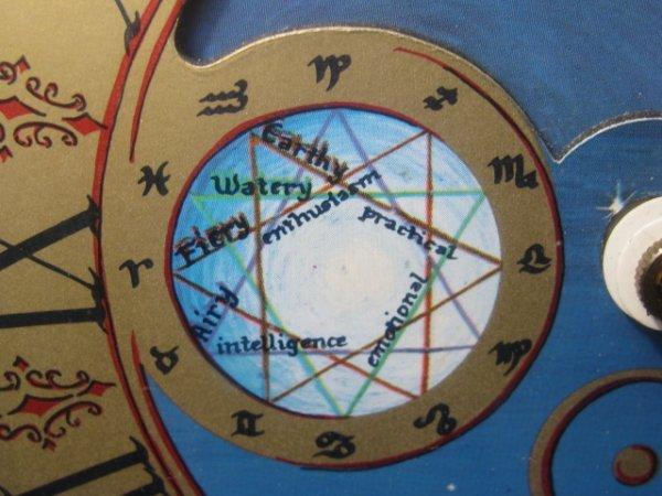 19: MID CENTURY ASTROLOGICAL CLOCK FAIRFIELD CLOCK - 5