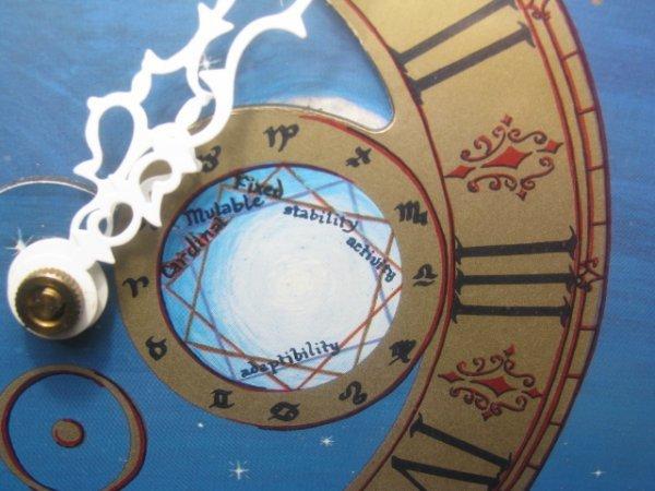 19: MID CENTURY ASTROLOGICAL CLOCK FAIRFIELD CLOCK - 6