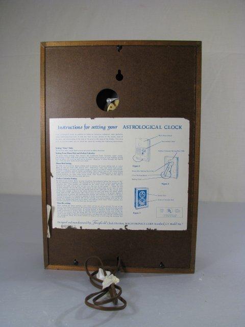 19: MID CENTURY ASTROLOGICAL CLOCK FAIRFIELD CLOCK - 9