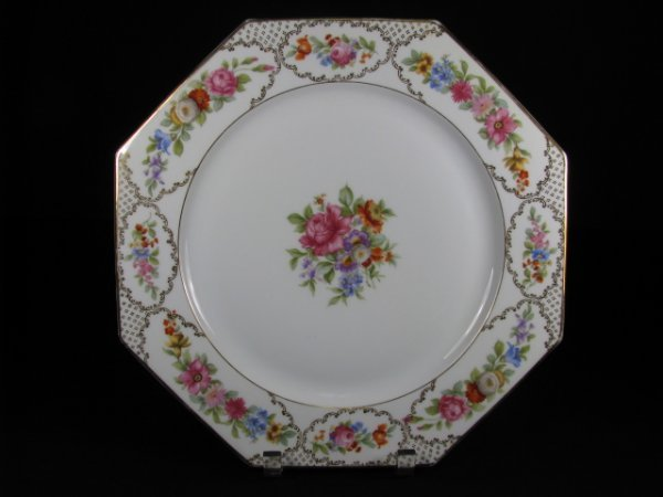 22: ROSENTHAL FLORAL DECORATED SERVING TRAY