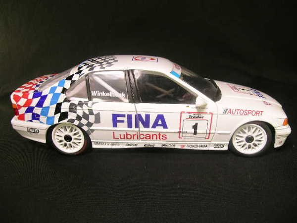 768: FINA AUTOSPORT U T MODEL CAR BMW 3 SERIES WHITE