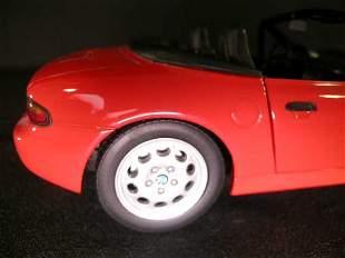 BMW Z 3 CONVERTIBLE U T MODELS CAR RED