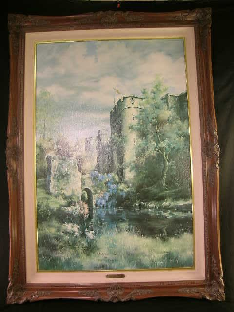 772: ALLINGTON CASTLE KENT PRINT MARTY BELL 236/1800