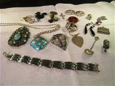 934: GROUP ASSTD STERLING AND SILVER JEWELRY