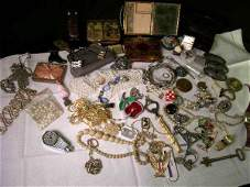 967: HUGE GROUP LOT ASSORTED COSTUME JEWELRY ETC