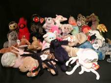 1039 GROUP LOT 26 MCDONALD TINY BEANIE BABIES