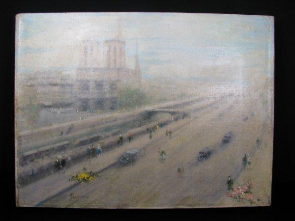 174: ANDRE GISSON IMPRESSIONIST PAINTING STREET SCENE
