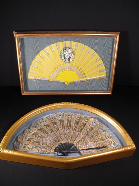 3: TWO FANS IN SHADOWBOX FRAMES