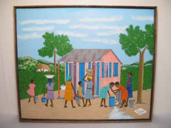 29: OIL PAINTING CANVAS HAITIAN JEAN-CLAUDE SEVERE