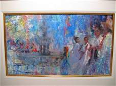168: MANUEL LOPEZ CIA (b. 1937) OIL PAINTING SIGNED