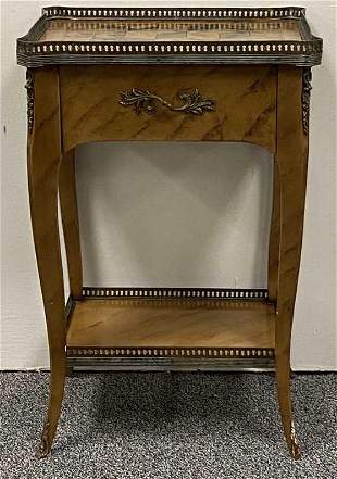 THEODORE ALEXANDER FAUX FINISH SIDE TABLE