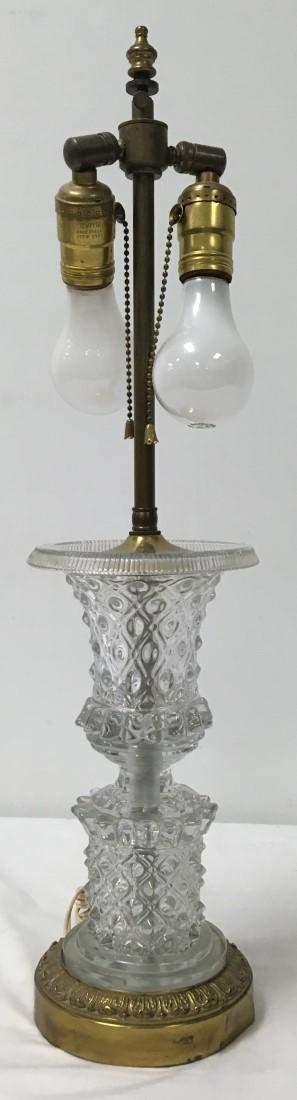 GEORGIAN MOLD BLOWN & CUT CRYSTAL URN AS LAMP