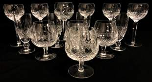 """WATERFORD """"COLLEEN"""" CUT CRYSTAL STEMWARE 14 PCS"""