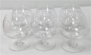 """SIX BACCARAT """"PERFECTION"""" CRYSTAL BRANDY SNIFTERS"""