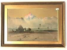 HENRY S LYNTON ORIENTALIST WATERCOLOR ON PAPER